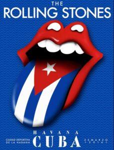 Rolling Stones Cuba concert poster