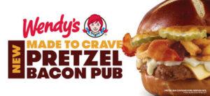 wendys pretzel bacon pub cheeseburger