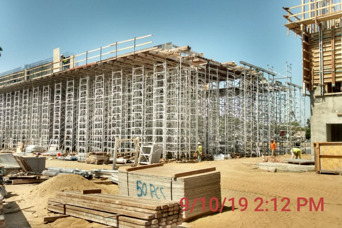UCR Library Installing Shoring