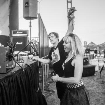 Richie Ramone and Rikki Styxx at Hi-Fi Fest
