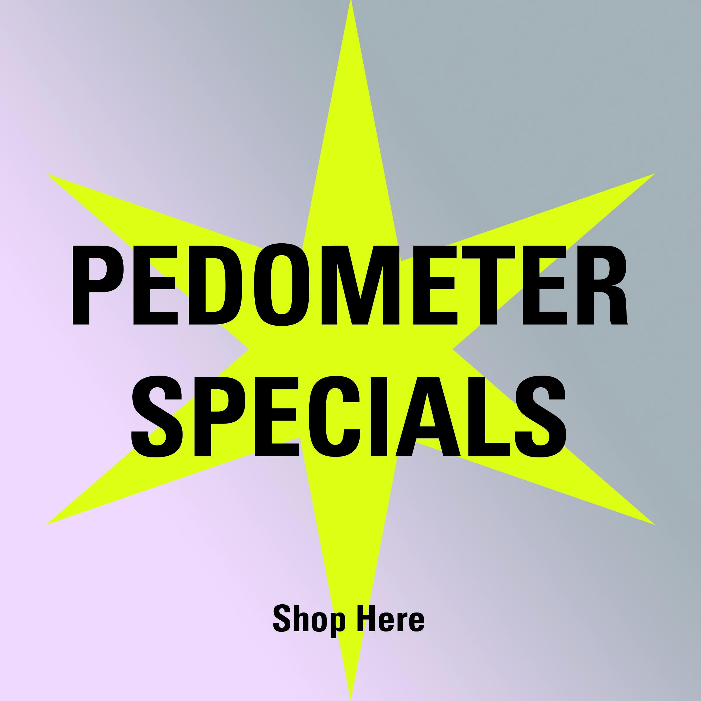 Pedometer Specials icon on Pedometer.com