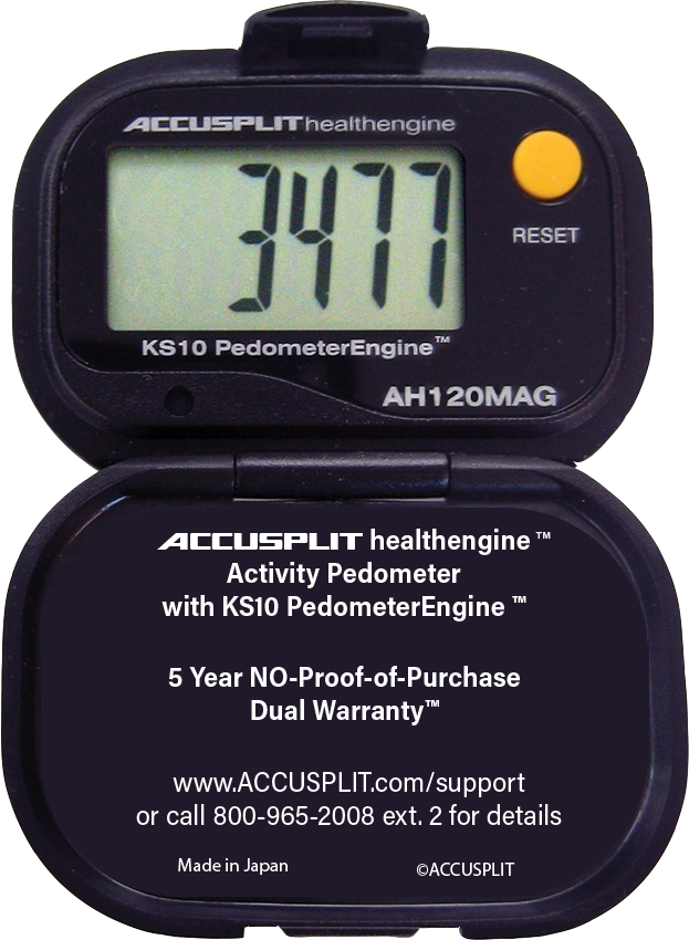 ACCUSPLIT AH120MAG Certified Accurate Pedometer
