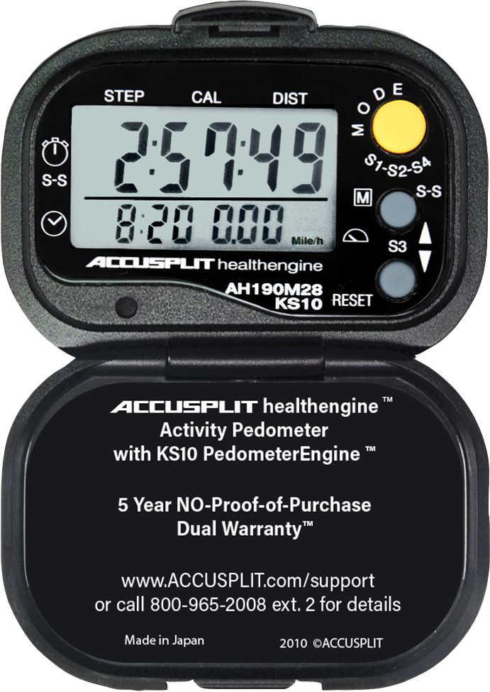 ACCUSPLIT AH190M28 Certified Accurate Pedometer
