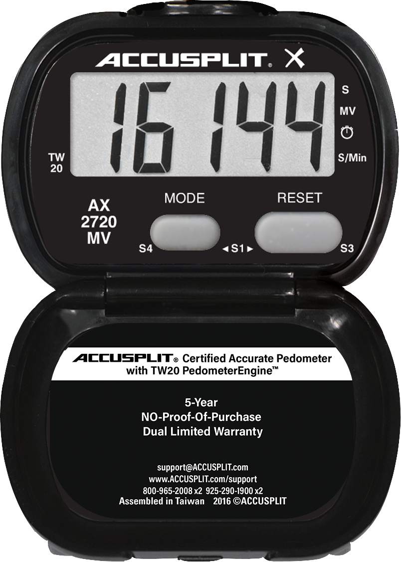 ACCUSPLIT AX2720MV Acelerometer Pedometer with Moderate to Vigorous bouts of activity