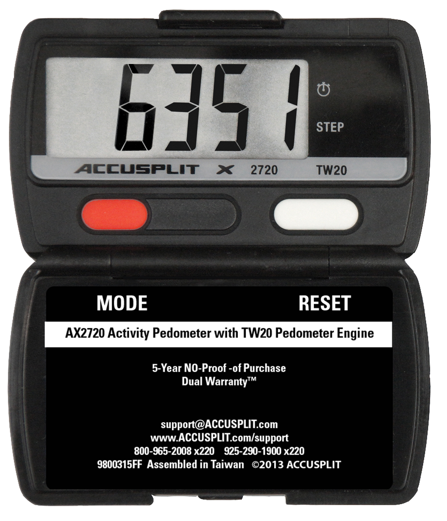ACCUSPLIT AX2720 Accelerometer Pedometer Steps and Activity Time