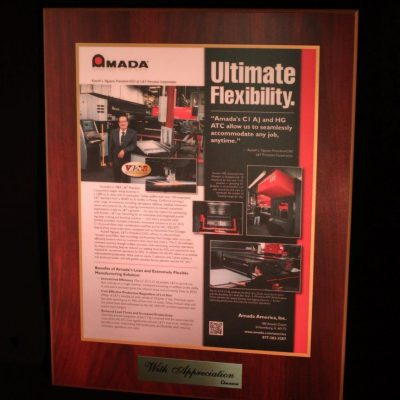 Recognition from AMADA Sheet Metal Fabrication Machines to L&T Precision