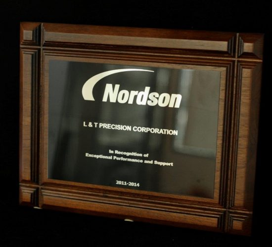 Recognition from Nordson for Exceptional Performance & Support