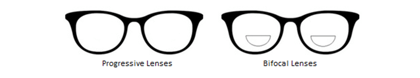 progressive and bifocals lenses