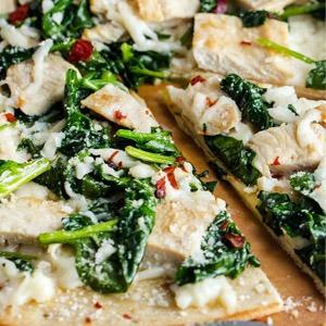 Garlic Chicken Spinach Pizza