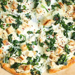 Garlic Spinach Pizza