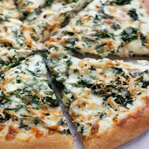 Spinach Alfredo Chicken Pizza
