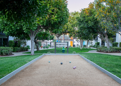 Park with sand and grass for play