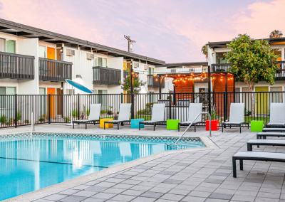 Resort Style Pool Area at The Parsons Apartment Homes
