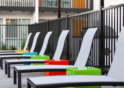 White Pool Chairs