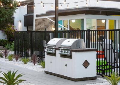 Outdoor BBQ grills
