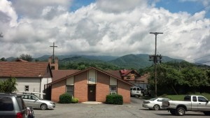 Church and Mountains