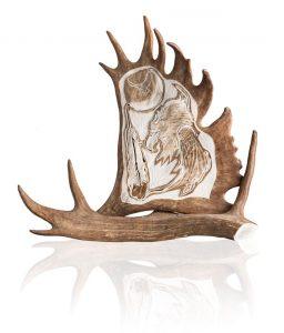 Carved Moose Antler