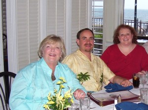 Me, Mom and Dan. I can't find one of just she and I but my new quest is to snap one!