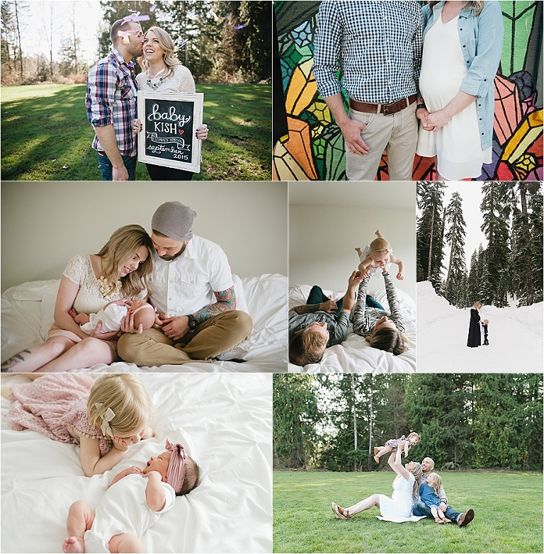 seattle family, maternity, and newborn photography, in home and on location