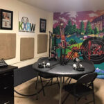 KXRW Studio space with table and mics