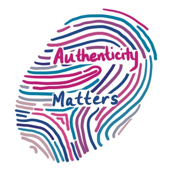 Authenticity matters thumb print logo
