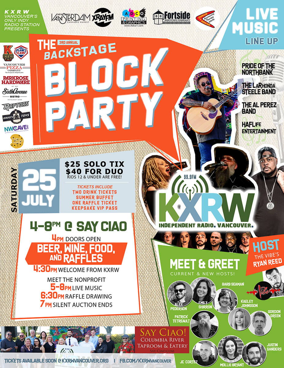 Backstage Block Party Poster