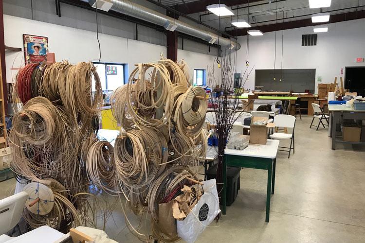 pentwater artisan center basket weaving