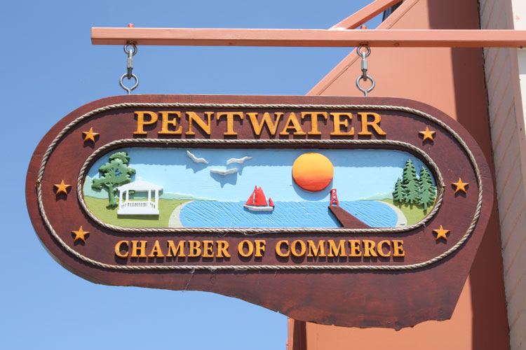 pentwater chamber of commerce sign