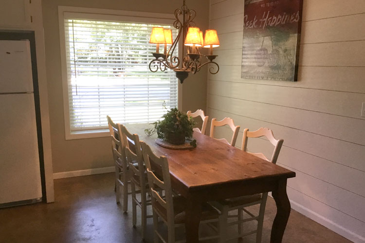 charming getaway dining room, pentwater, michigan cottage rental