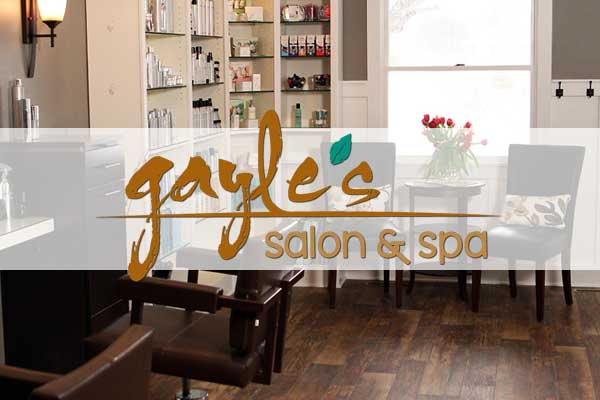 gayle's salon and spa badge and logo