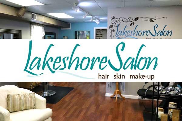 lakeshore salon badge and logo