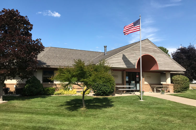 pentwater public library exterior