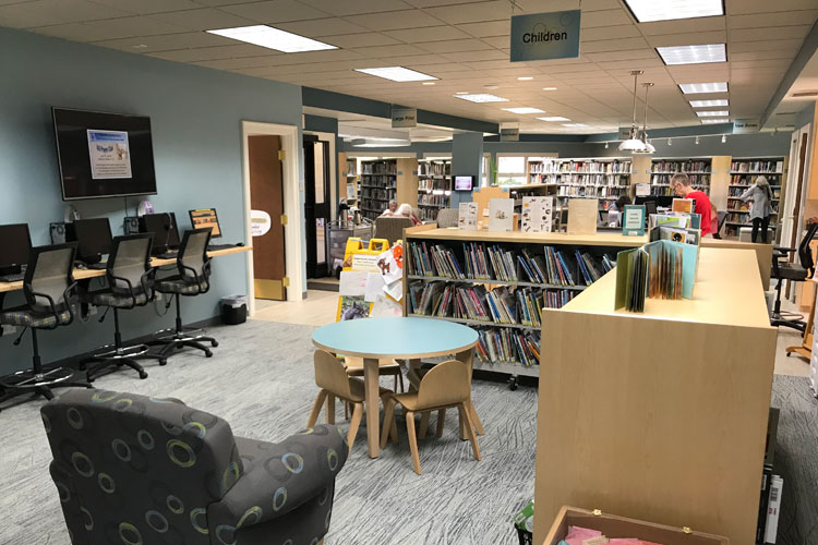 inside the pentwater public library