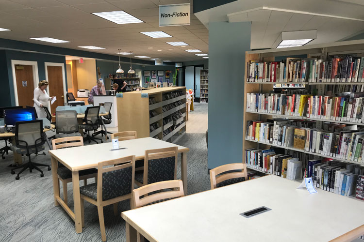 pentwater library work tables