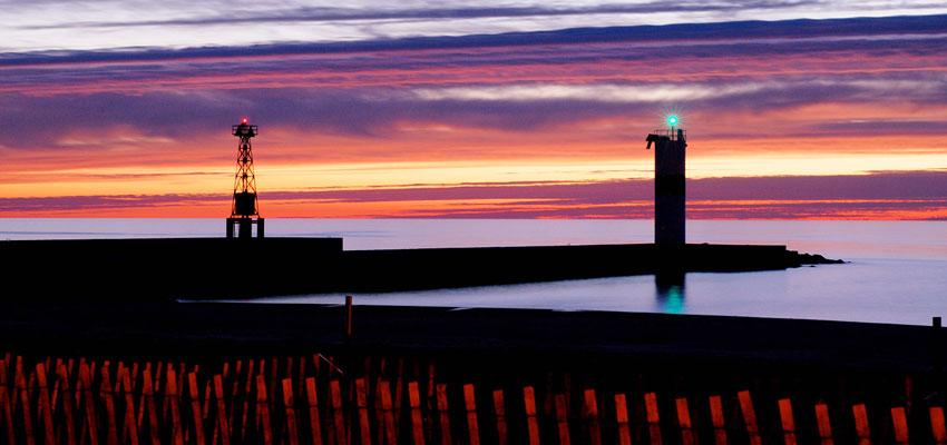 pentwater beach sunsets