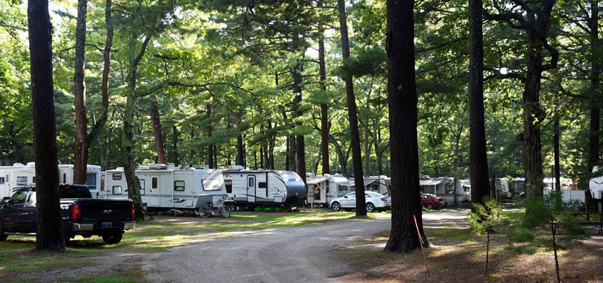 whispering surf campground at bass lake