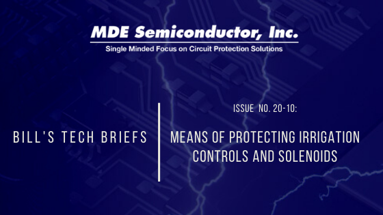 Means of Protecting Irrigation Controls and Solenoids