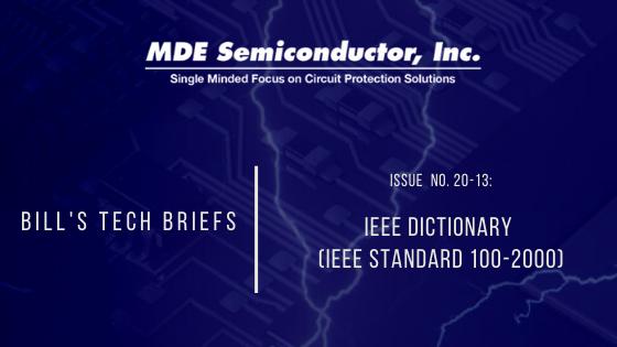 IEEE DICTIONARY (IEEE STANDARD 100-2000)