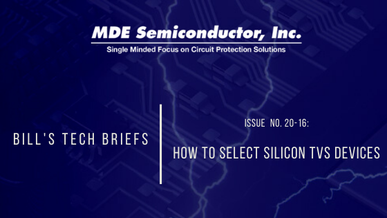 How to Select Silicon TVS Diode Devices