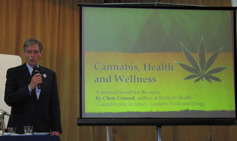 Chris Conrad gives a presentation on medical marijuana, 2014