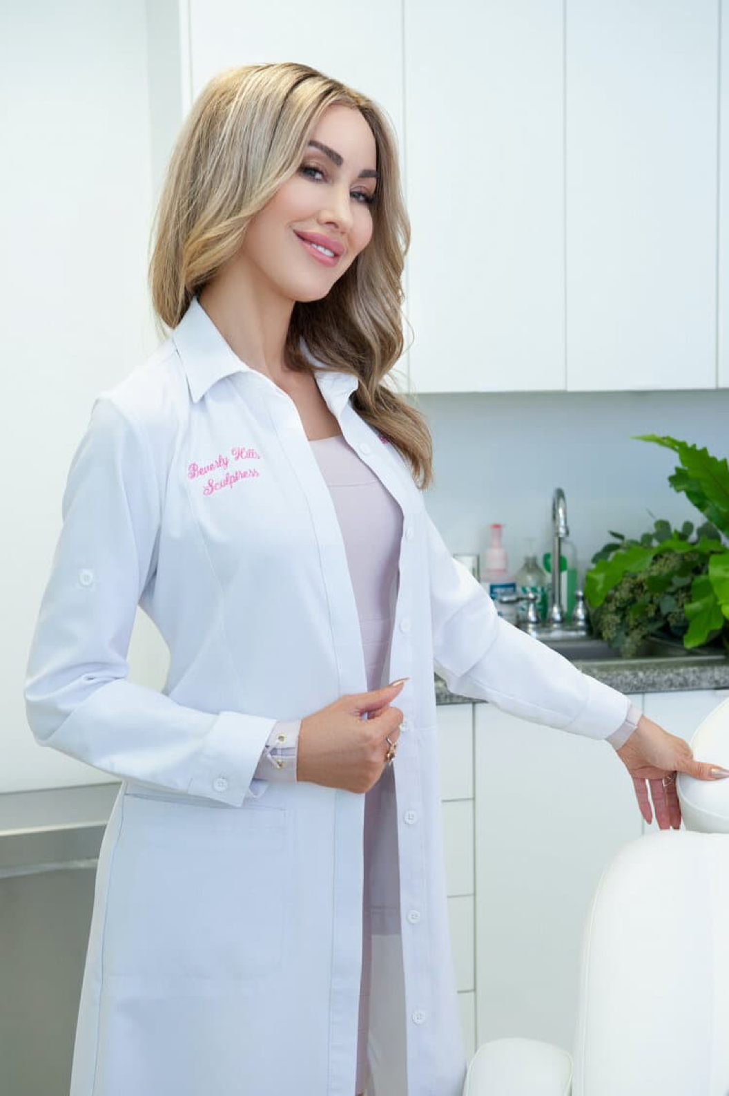 Shea with Medical Uniform