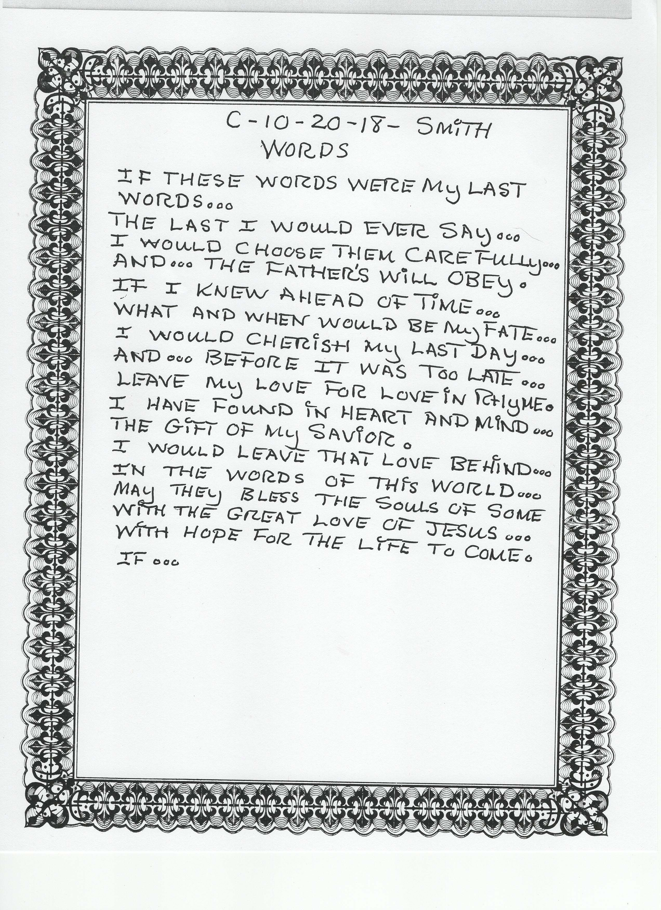 Poetry by Richard Smith - Johnson Lane Baptist Church