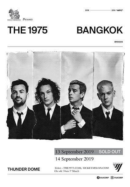 SINGHA CORPORATION PRESENTSTHE 1975 LIVE IN BANGKOK