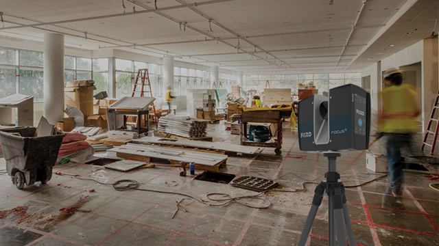 Faro 3D Scanner on a construction site