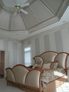 Pattern - Metallic Stripes and Aged Moulding