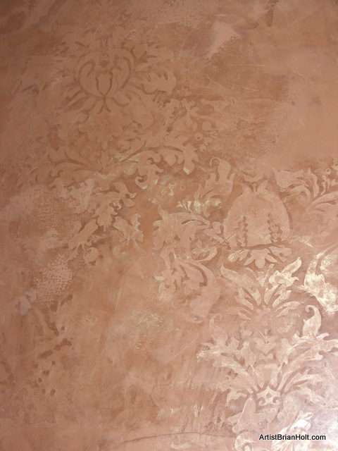 Pattern - Venetian Plaster Texture with Embedded Damask Design