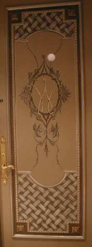 Accent mural - embellished front door