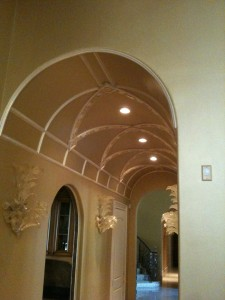 Metallic Paint on Walls and Ceiling