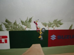 Kids Mural - Motorcross - Motorcycle