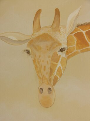 Kids Mural - Giraffe in Serengeti Nursery